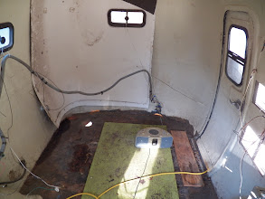 Photo: Inside, with wires hung up off the floor.