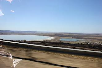 Photo: Соленое озеро - заказник. Оно находится на пути миграции птиц. Весной сюда прилетают тысячи журавлей