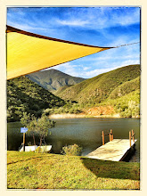 Photo: Shade sail on the dam with boats
