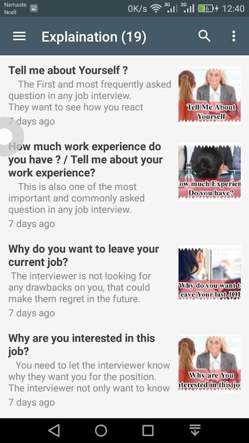 job interview questions and answers screenshot - Frequently Asked Interview Questions And Answers