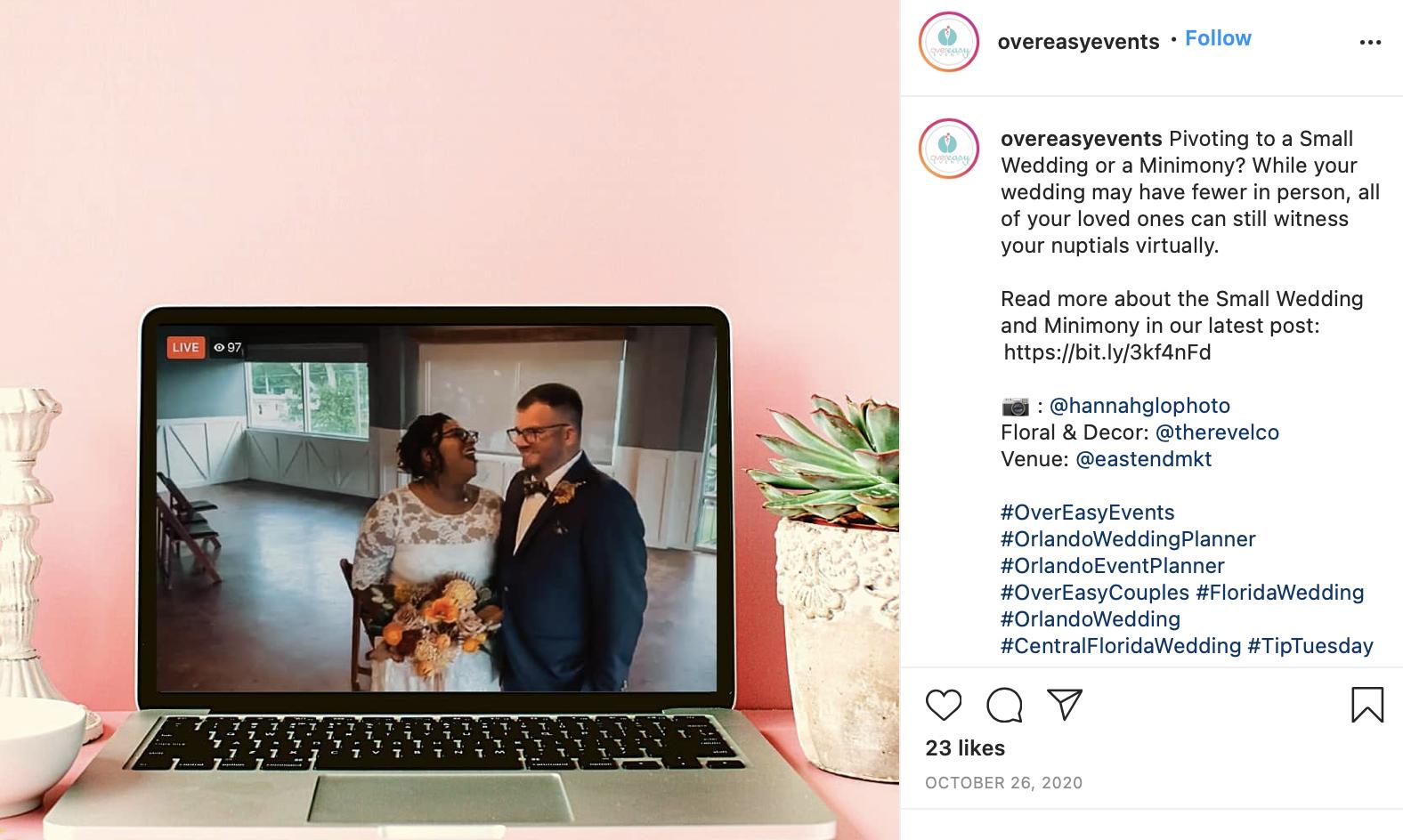 wedding trends - having a virtual wedding ceremony