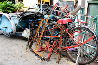 Photo: Year 2 Day 108 - Old Bikes in the Street