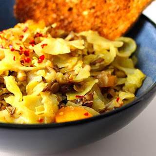 Sauteed Cabbage and Onion with Lentils Recipe