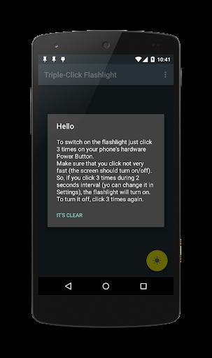 Triple-Click Flashlight