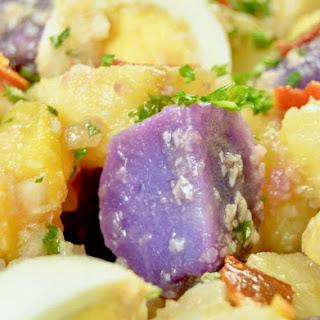 Creamy Mayo Free Caesar Style Potato Salad.