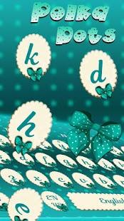 Turquoise Polka Dot keyboard Theme - náhled