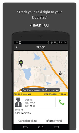 TaxiForSure book taxis, cabs screenshot 2