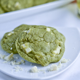 Matcha Green Tea White Chocolate Cookies.