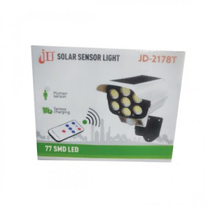 Camera falsa cu panou solar, 77 LED, senzor de miscare, JD 2178T