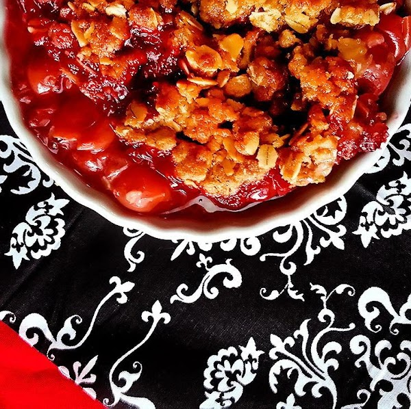 Tart Cherry Crisp With Oaty Crumble Topping Recipe