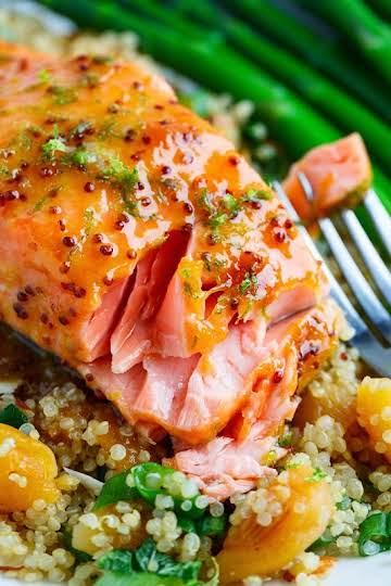 Apricot Dijon Glazed Salmon Recipe