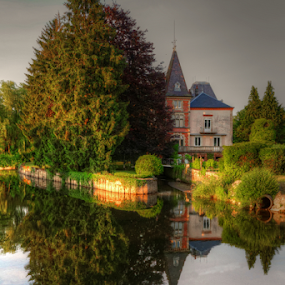 Saint Loup sur Semonces by Dominic Jacob - Buildings & Architecture Homes ( reflection, village, saint loup sur semonces, green, reflections, france, house, reflect,  )