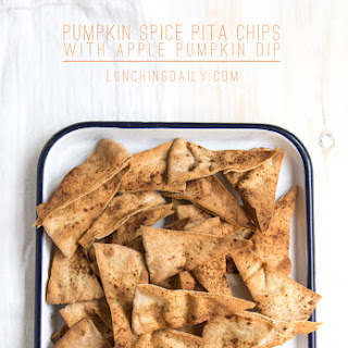 Pumpkin Spice Pita Chips with Apple Pumpkin Dip