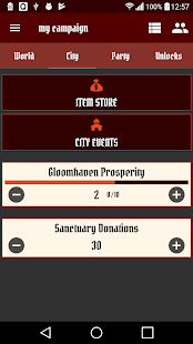 Gloomhaven Campaign Tracker - náhled