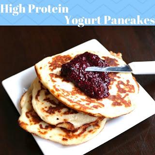 High Protein Yogurt Pancakes.