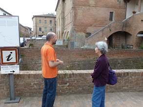 Photo: On the trip with our private guide Andrea taking only two of us for one full day in Tuscany.