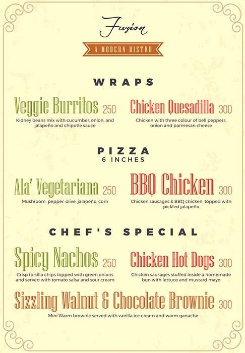 Fuzion menu 1