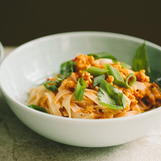 Curried Shrimp and Noodles.