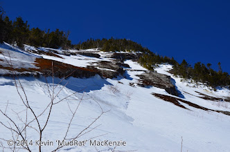 Photo: Looking up the dihedral of the 'summer route'.