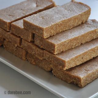 Homemade No-Bake Protein Bars.