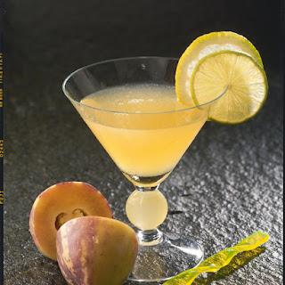 Sparkling Peach Cocktail.