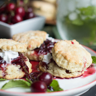 Sweet Buttermilk Biscuits with Cherry Compote