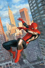 """Photo: AMAZING SPIDER-MAN #646, Variant Cover. 2010. Gouache and acrylic on bristol board, 11 x 17""""."""