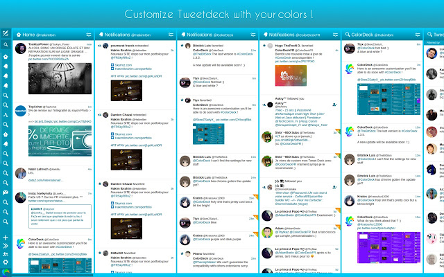 ColorDeck for Tweetdeck
