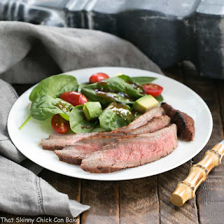 Red Wine and Soy Marinated Flank Steak.