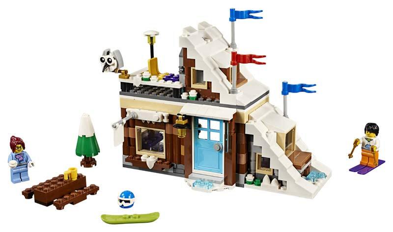 Contenido de Lego® 31080 Refugio de Invierno Modular