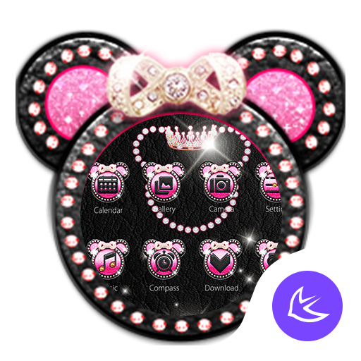 Pink Mickey Diamond – APUS launcher theme
