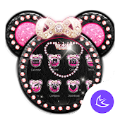 Pink Mickey Diamond Bowknot – APUS launcher theme