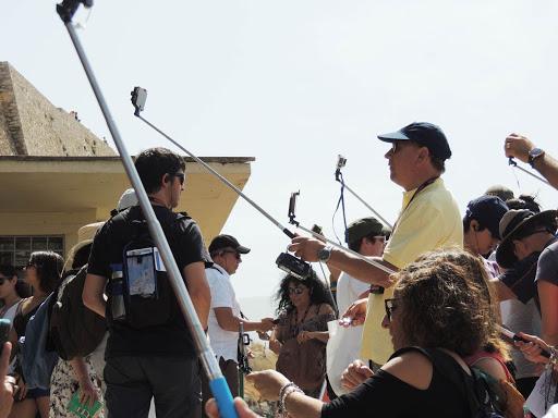 selfie-sticks-at-acropolis.jpg - Selfie sticks were everywhere at the Acropolis.