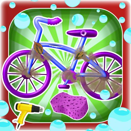 #Kids cycle wash and repair