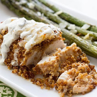 Spicy Quinoa Crusted Chicken