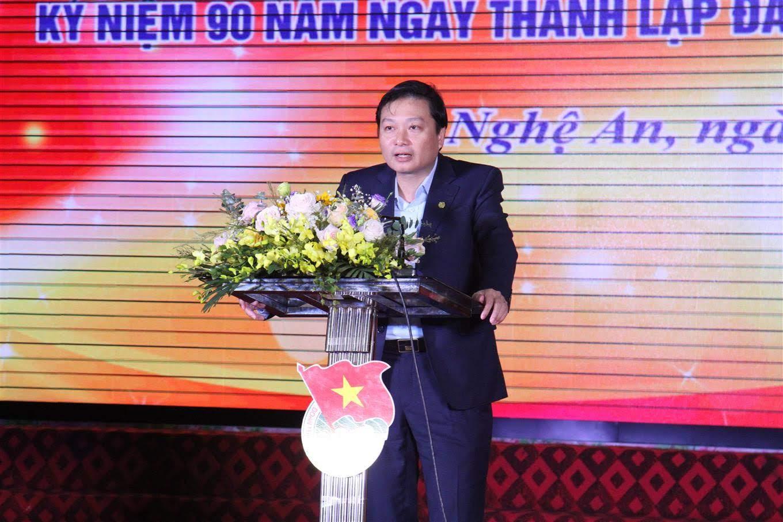 Đồng chí Lê Hồng Vinh, Phó Chủ tịch UBND tỉnh phát biểu tại chương trình