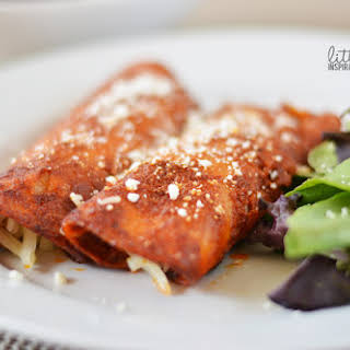 Traditional Mexican Red Enchiladas.