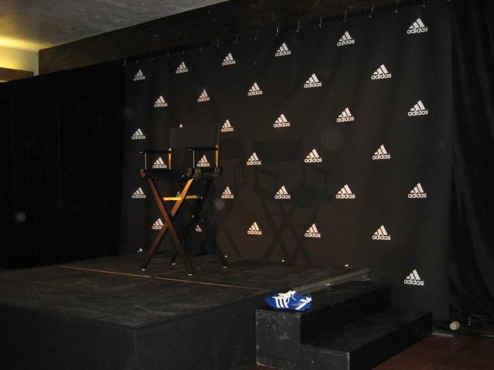 Press Conference Background Adidas Background at Press