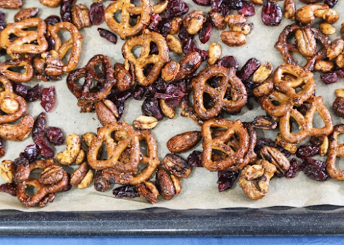 Sweet and Savory Nuts and Pretzels