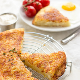 Potato Rosti With Parmesan And Goat Cheese.