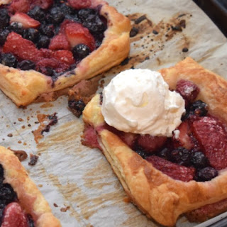 Triple Berry Puff Pastry Mini Pies.