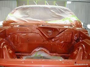 Photo: nice burnt orange engine bay on 70 challenger wss 383 auto