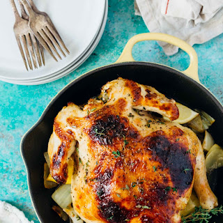 Pressure Cooker Honey Butter and Herb Roasted Chicken.