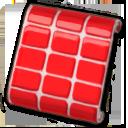 赤いタイル調壁紙
