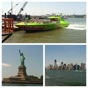 Through the Hudson in the Beast. #nyc #4th #boat #river #city #liberty #statue by Alex Santos - Instagram & Mobile Instagram