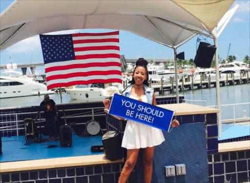 Pics Uzalo Actress Sihle Ndaba Takes Miami