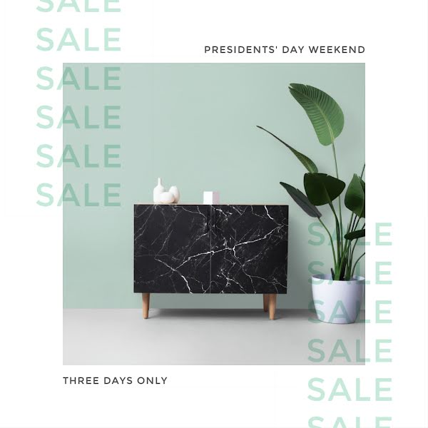 President's Day Weekend Sale - Instagram Post Template