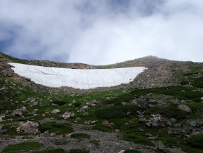 大汝峰の雪渓