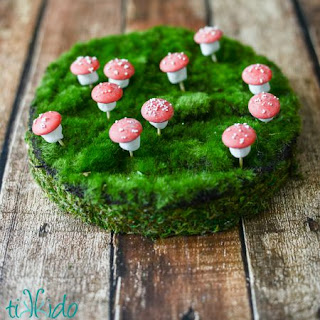 Tiny Chocolate No Bake Mushroom Treats for a Woodland Party