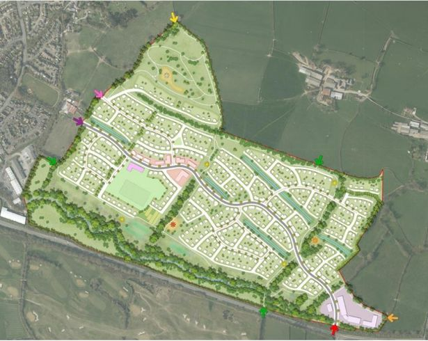 Artist impression of a bird\'s-eye view of the completed project. Credit: North Devon Council